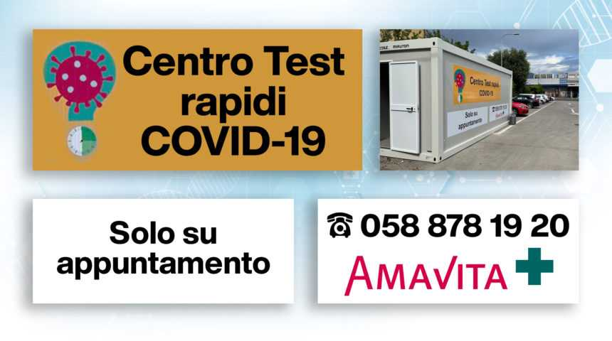 Amavita: Test rapidi COVID-19